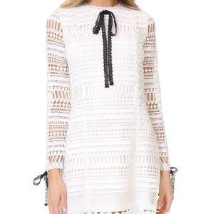 Alexis White lace shift mini dress